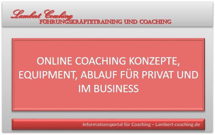 Online Coaching Business, Privat, Konzepte, Equipment, Ablauf